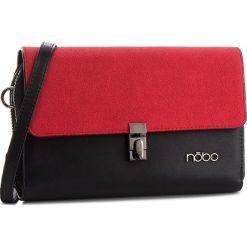 Torebka NOBO - NBAG-F2350-C020 Czarny Z Czerwonym. Czarne listonoszki damskie Nobo, z materiału. W wyprzedaży za 139.00 zł.