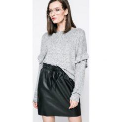 Fresh Made - Sweter. Szare swetry damskie Fresh Made, z dzianiny, z okrągłym kołnierzem. W wyprzedaży za 59.90 zł.