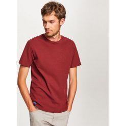 Gładki t-shirt - Bordowy. T-shirty męskie marki Giacomo Conti. W wyprzedaży za 39.99 zł.
