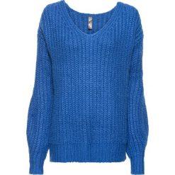Sweter dzianinowy bonprix lazurowy. Swetry damskie marki bonprix. Za 89.99 zł.