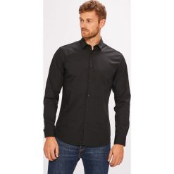 Selected - Koszula. Czarne koszule męskie Selected, z bawełny, z klasycznym kołnierzykiem, z długim rękawem. W wyprzedaży za 179.90 zł.