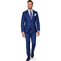 Garnitur Granatowy Radon. Niebieskie garnitury męskie LANCERTO, w kolorowe wzory, z tkaniny. W wyprzedaży za 999.90 zł.