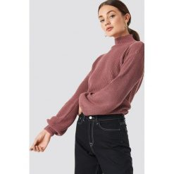 Rut&Circle Sweter w prążki Quini - Pink. Różowe swetry damskie Rut&Circle, z dzianiny. Za 121.95 zł.