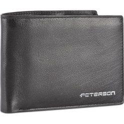 Duży Portfel Męski PETERSON - 347/W-04-01-01 Czarny. Czarne portfele męskie Peterson, ze skóry. W wyprzedaży za 129.00 zł.