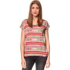 """Koszulka """"Bladina"""" w kolorze szarym ze wzorem. T-shirty damskie Brunotti, z nadrukiem, z okrągłym kołnierzem, z krótkim rękawem. W wyprzedaży za 74.95 zł."""