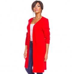 """Kardigan """"Ema"""" w kolorze czerwonym. Czerwone kardigany damskie So Cachemire, z kaszmiru. W wyprzedaży za 173.95 zł."""