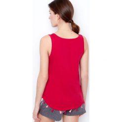 Etam - Top piżamowy. Różowe piżamy damskie Etam, z bawełny. W wyprzedaży za 29.90 zł.