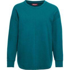 Luźniejsza bluza z miękkiego materiału bonprix kobaltowo-turkusowy. Niebieskie bluzy damskie bonprix. Za 74.99 zł.