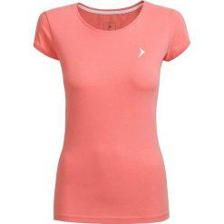 T-shirt damski  TSD616 - łososiowy melanż - Outhorn. Czerwone t-shirty damskie Outhorn, melanż, z bawełny. W wyprzedaży za 24.99 zł.