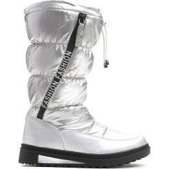 Srebrne Śniegowce Humbleness. Szare buty zimowe dziewczęce Born2be, z materiału. Za 109.99 zł.