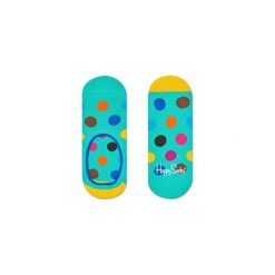 Skarpetki Happy Socks - Big Dot Liner (BDO06-7000). Szare skarpety męskie Happy Socks, w kolorowe wzory, z bawełny. Za 27.90 zł.