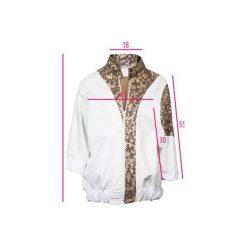 Biało złota kurtka bomberka. Białe kurtki męskie Diamond dust, z bawełny, eleganckie. Za 700.00 zł.