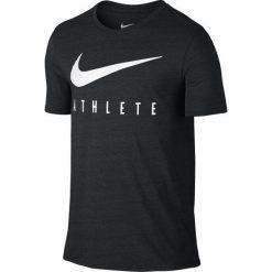 Nike Koszulka Sportowa Db Mesh Swoosh Athlete Tee 806377 032 Xl. Czarne koszulki sportowe męskie Nike, z meshu. W wyprzedaży za 89.00 zł.