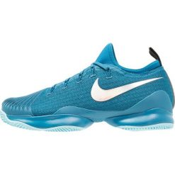 Nike Performance MEN AIR ZOOM ULTRA REACT HC Obuwie do tenisa Outdoor green abyss/metallic silver/blue force. Trekkingi męskie Nike Performance, z materiału, outdoorowe. Za 629.00 zł.