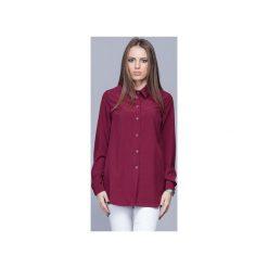 Elegancka koszula z kołnierzykiem bordo H025. Czerwone koszule damskie Harmony, biznesowe, z klasycznym kołnierzykiem, z długim rękawem. Za 134.00 zł.