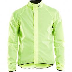 Kurtka funkcyjna w kolorze jaskrawozielonym. Zielone kurtki męskie Craft, z materiału. W wyprzedaży za 173.95 zł.