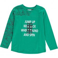 """Koszulka """"Thomas 602"""" w kolorze zielonym. Zielone t-shirty dla chłopców marki Lego Wear Fashion, z bawełny, z długim rękawem. W wyprzedaży za 49.95 zł."""
