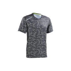 Koszulka do biegania krótki rękaw RUN DRY+ męska. Szare koszulki sportowe męskie KALENJI, z elastanu, z krótkim rękawem. W wyprzedaży za 19.99 zł.