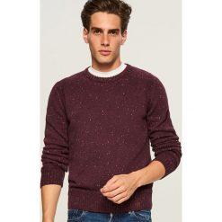 Sweter - Bordowy. Czerwone swetry przez głowę męskie Reserved. Za 159.99 zł.