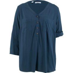 Tunika, rękawy 3/4 bonprix ciemnoniebieski. Niebieskie tuniki damskie bonprix. Za 37.99 zł.