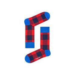 Skarpetki Happy Socks - Lumber Jack (GIH01-4000). Szare skarpety męskie Happy Socks, w kolorowe wzory, z bawełny. Za 34.90 zł.