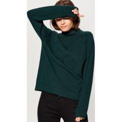 Sweter z półgolfem - Zielony. Zielone swetry damskie Mohito. Za 99.99 zł.