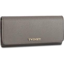 Duży Portfel Damski TWINSET - Portafoglio OA7PD3 Grigio S 0022S. Szare portfele damskie Twinset, ze skóry. W wyprzedaży za 359.00 zł.