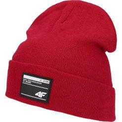 Czapka męska CAM201 - czerwony. Szare czapki i kapelusze męskie marki Giacomo Conti, na zimę, z tkaniny. Za 39.99 zł.