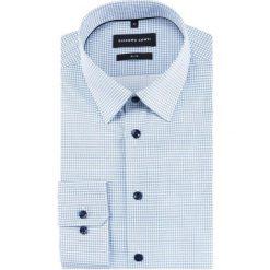 Koszula SIMONE KDNS000229. Szare koszule męskie Giacomo Conti, w geometryczne wzory, z bawełny, z klasycznym kołnierzykiem, z długim rękawem. Za 199.00 zł.