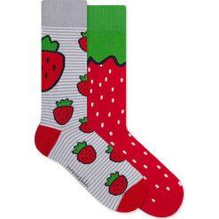 Nanushki - Skarpetki Funny Strawberry. Czerwone skarpety damskie Nanushki. Za 25.90 zł.