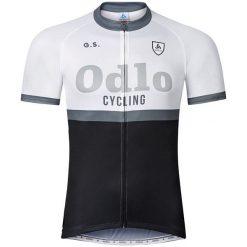Odlo Koszulka rowerowa Stand-up collar s/s Ride biało-czarna r.L (410972). Koszulki sportowe męskie Odlo. Za 93.69 zł.