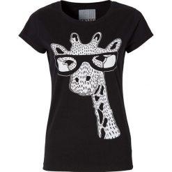T-shirt bonprix czarny Żyrafa. T-shirty damskie marki DOMYOS. Za 29.99 zł.