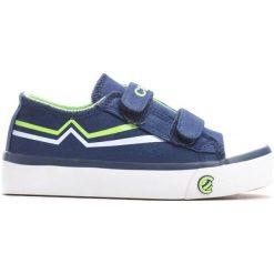 Niebiesko-Zielone Trampki Happily. Niebieskie buty sportowe chłopięce Born2be, z materiału. Za 49.99 zł.