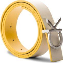 Pasek Damski CALVIN KLEIN - Ck Rev Belt Giftbox K60K604150 75 908. Brązowe paski damskie Calvin Klein, w paski, ze skóry. W wyprzedaży za 249.00 zł.
