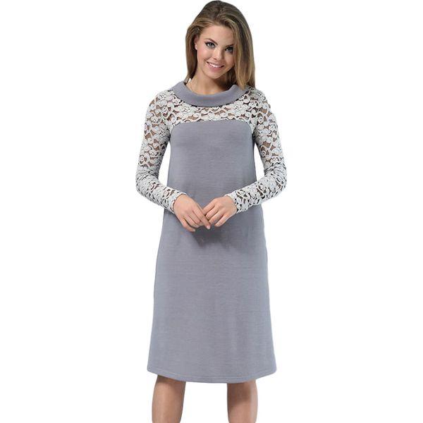 23d7706d7f Sukienka w kolorze jasnoszarym - Szare sukienki damskie marki Lila ...