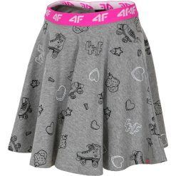 Spódniczka dresowa dla małych dziewczynek JSPUD102 - szary melanż. Szare spódniczki dla dziewczynek 4F JUNIOR, melanż, z bawełny. W wyprzedaży za 39.99 zł.