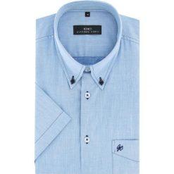 Koszula SERGIO slim 16-01-16-K. Niebieskie koszule męskie Giacomo Conti, z bawełny, button down, z krótkim rękawem. Za 169.00 zł.