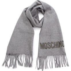 Szal MOSCHINO - 30580 M1878 014. Szare szaliki i chusty damskie marki Giacomo Conti, na zimę, z tkaniny. Za 439.00 zł.