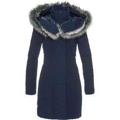 Płaszcz ze sztucznym futerkiem bonprix ciemnoniebieski. Niebieskie płaszcze damskie bonprix. Za 239.99 zł.