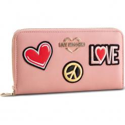 Duży Portfel Damski LOVE MOSCHINO - JC5604PP17LJ0600 Rosa. Czerwone portfele damskie Love Moschino, ze skóry ekologicznej. Za 429.00 zł.