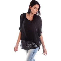 Koszulka w kolorze czarnym. T-shirty damskie 100% Soie, klasyczne, z okrągłym kołnierzem. W wyprzedaży za 130.95 zł.
