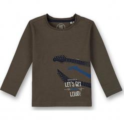 Koszulka w kolorze khaki. Brązowe t-shirty dla chłopców marki Eat ants, z nadrukiem, z bawełny, z długim rękawem. W wyprzedaży za 62.95 zł.
