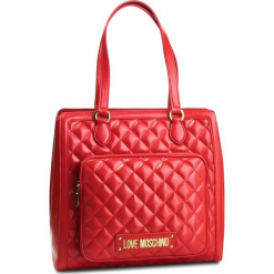 Torebka LOVE MOSCHINO - JC4001PP17LA0500 Rosso. Czerwone torebki do ręki damskie Love Moschino, ze skóry ekologicznej. Za 959.00 zł.