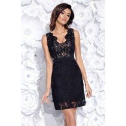 Sukienka z gipiury 2163. Czarne sukienki damskie Bico, eleganckie, z dekoltem na plecach. Za 229.00 zł.