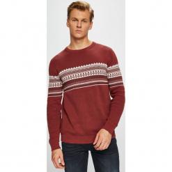 Produkt by Jack & Jones - Sweter. Brązowe swetry przez głowę męskie PRODUKT by Jack & Jones, z bawełny, z okrągłym kołnierzem. W wyprzedaży za 99.90 zł.
