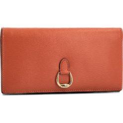 Duży Portfel Damski LAUREN RALPH LAUREN - Bennington 432688519008  Orange. Brązowe portfele damskie Lauren Ralph Lauren, ze skóry. W wyprzedaży za 459.00 zł.