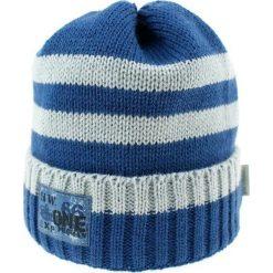 Czapka zimowa CZ 036C. Szare czapki dla dzieci Proman, na zimę. Za 37.42 zł.
