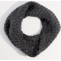 Komin z włóknem metalizowanym - Szary. Szare szaliki i chusty damskie Mohito, z włókna. Za 49.99 zł.
