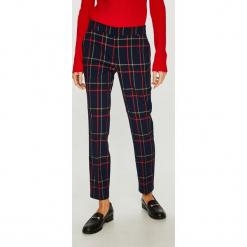 Medicine - Spodnie Vintage Revival. Brązowe spodnie materiałowe damskie MEDICINE, z haftami, z elastanu. Za 119.90 zł.