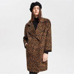 Płaszcz z motywem zwierzęcym - Wielobarwn. Szare płaszcze damskie Reserved, z motywem zwierzęcym. Za 299.99 zł.